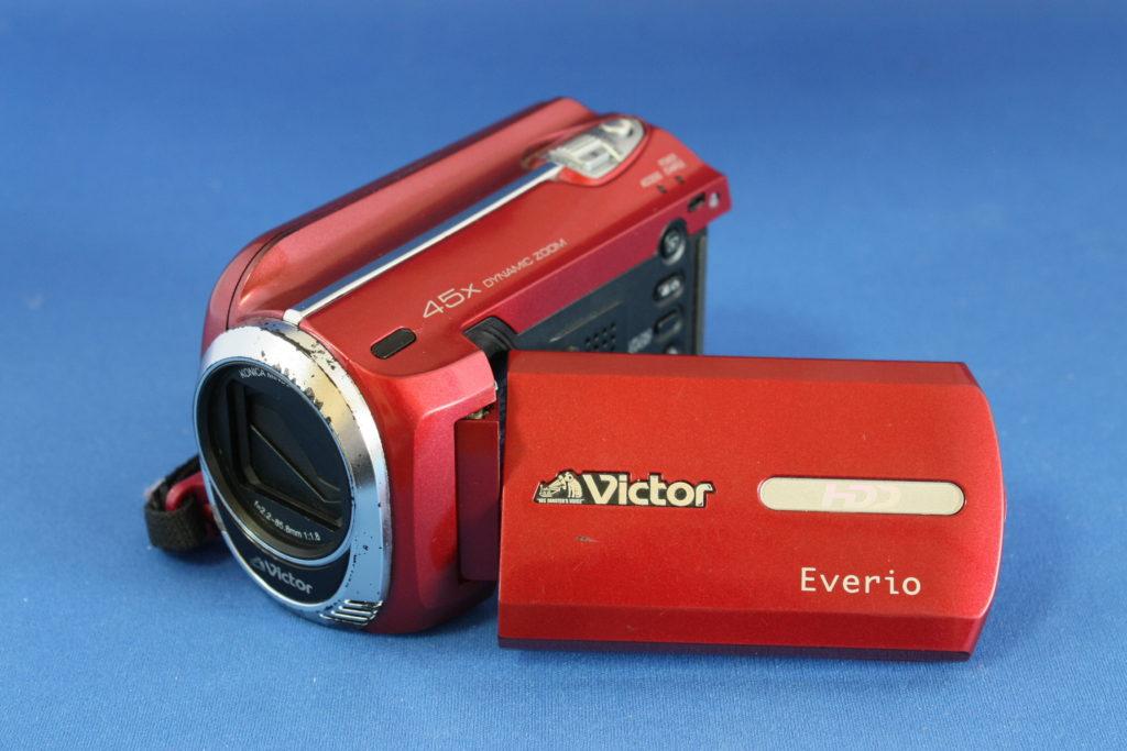 故障したビデオカメラ